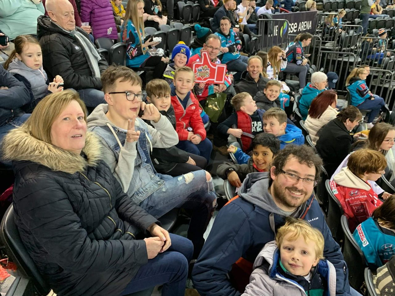 BB Company and Junior Sections at Belfast Giants match – February 2020